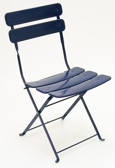 Carolina In Outdoor Metal Folding Blue Side Chair