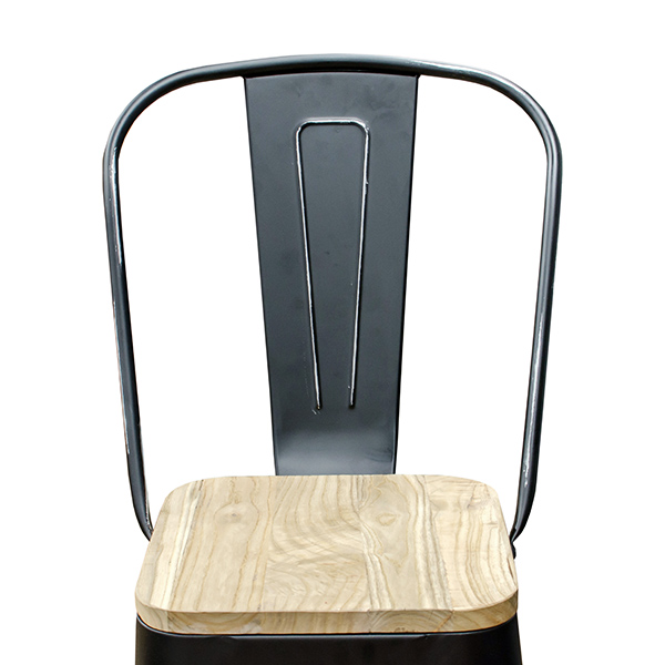 Prime Black Weathered High Back Wood Seat Tolix Bar Stool Gmtry Best Dining Table And Chair Ideas Images Gmtryco
